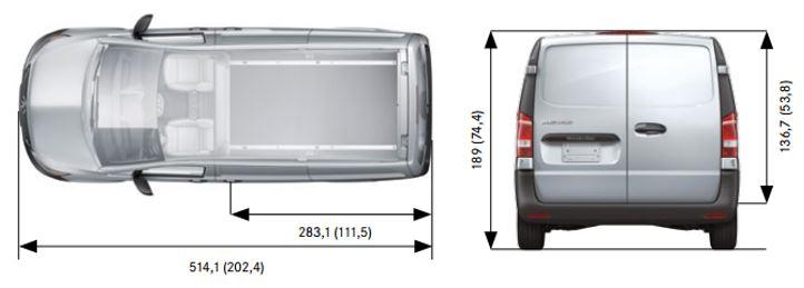 Mercedes metris cargo dimensions